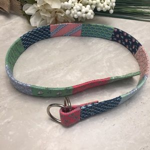 Vineyard Vines Patchwork D Ring Belt size Small